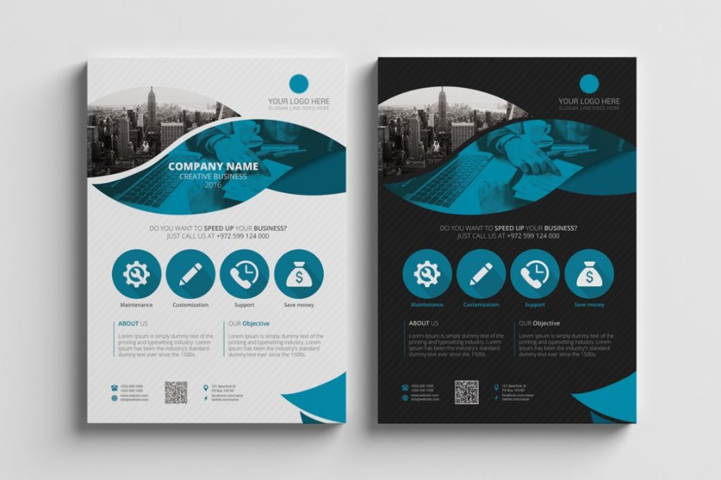 Elegant Corporate Flyer Template PSD