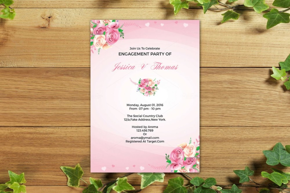 Elegant Dinner Invitation Template PSD