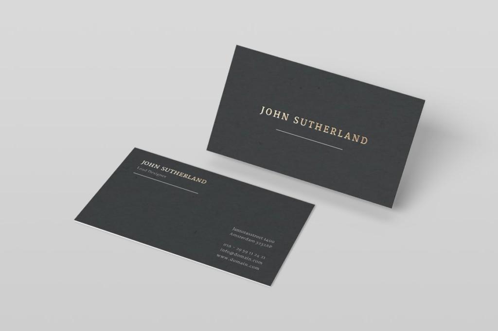 Elegant Gold Foil Business Card Template