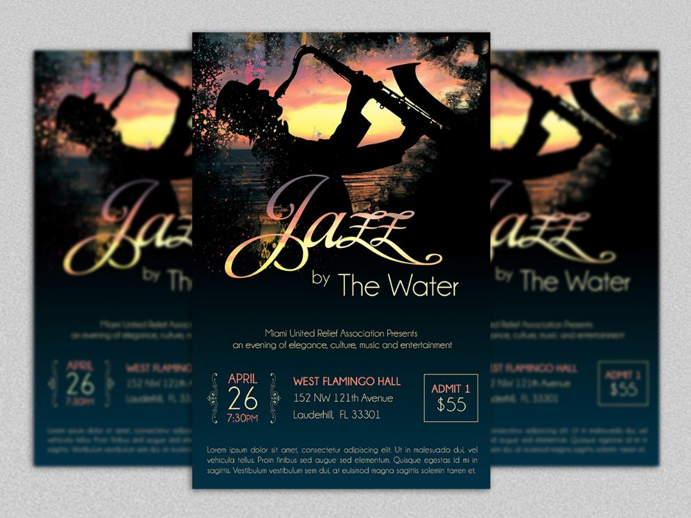 Elegant Jazz Event Flyer Template