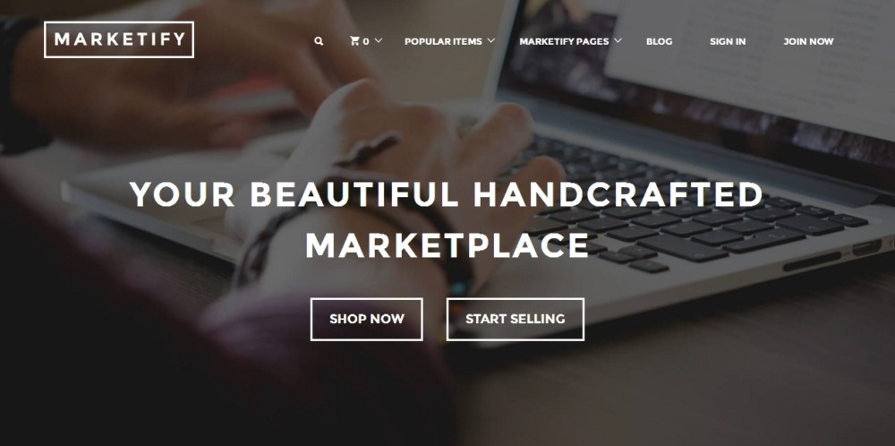 Elegant WordPress Marketplace Theme