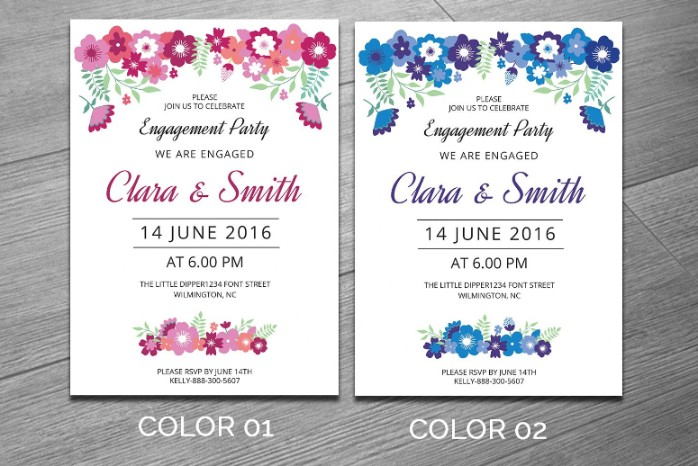 Engagement Invitation Template