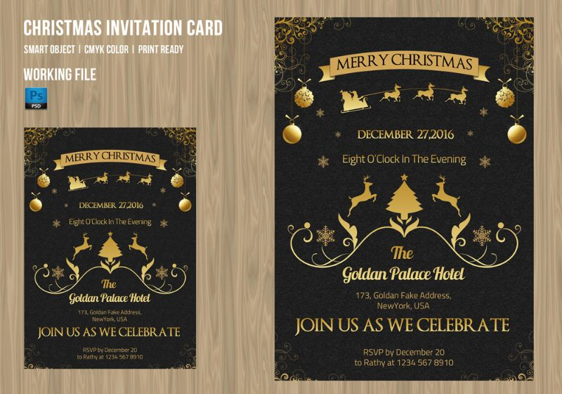Eye Catching Christmas Party Invitation Template