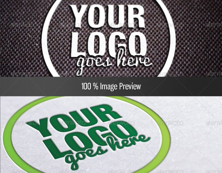 Fabric Logo Mockup Design