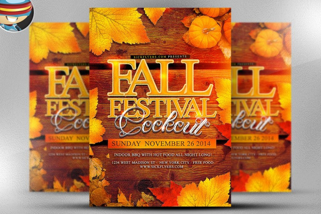 Fall Festival Flyer Template PSD