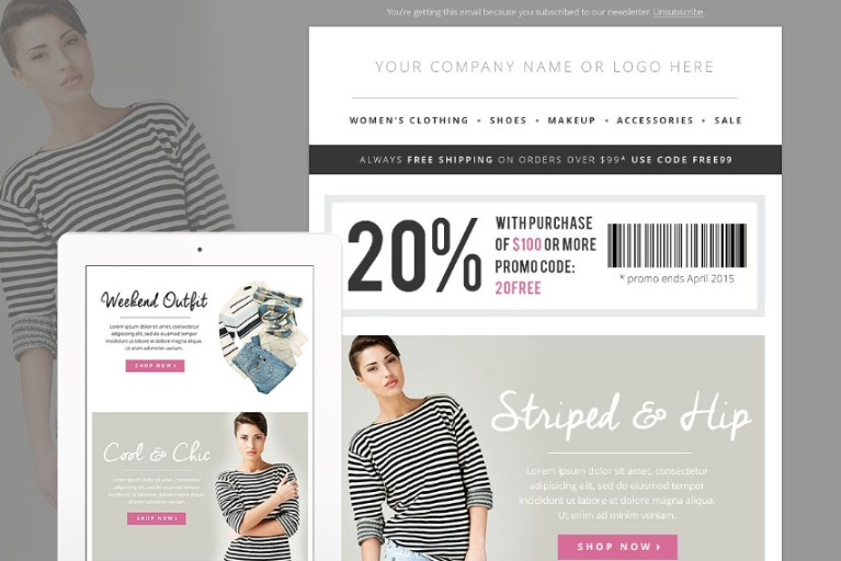 Fashion Sales Newsletter Template