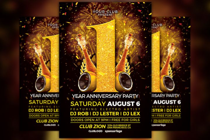 First Anniversary Flyer Template