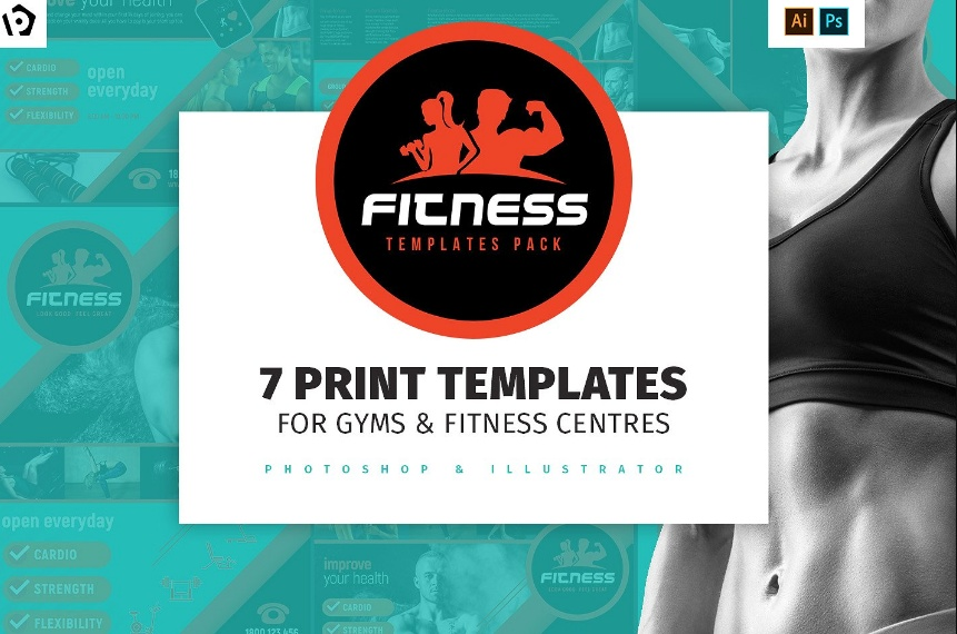 Fitness Flyer Template PSD