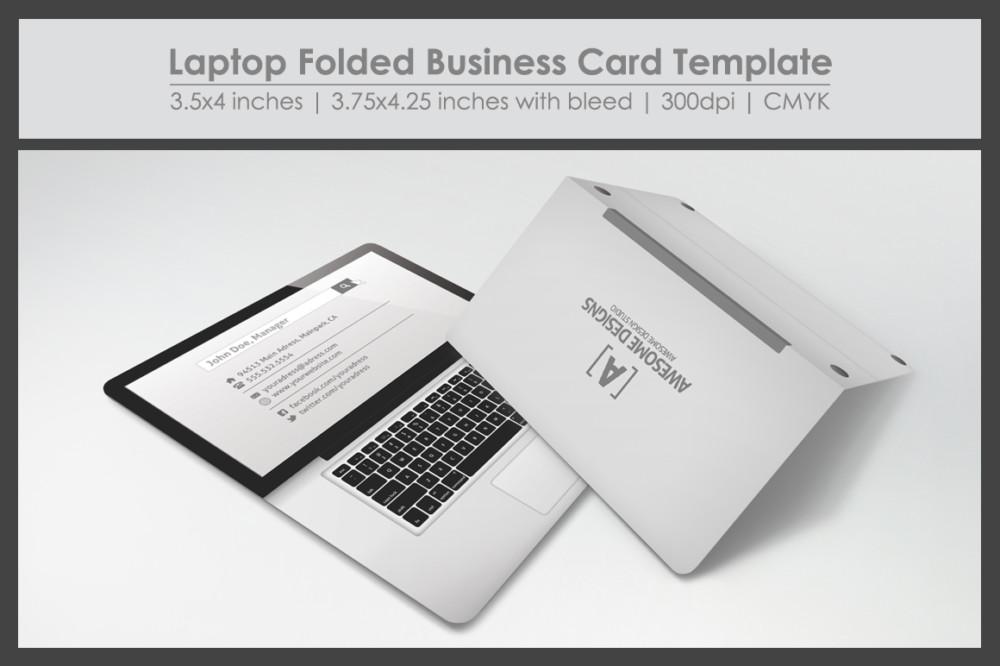Folded Business Card PSD Template