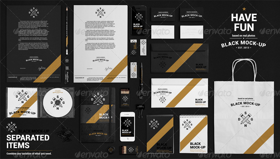 Fully Customizable Branding Mockup PSD