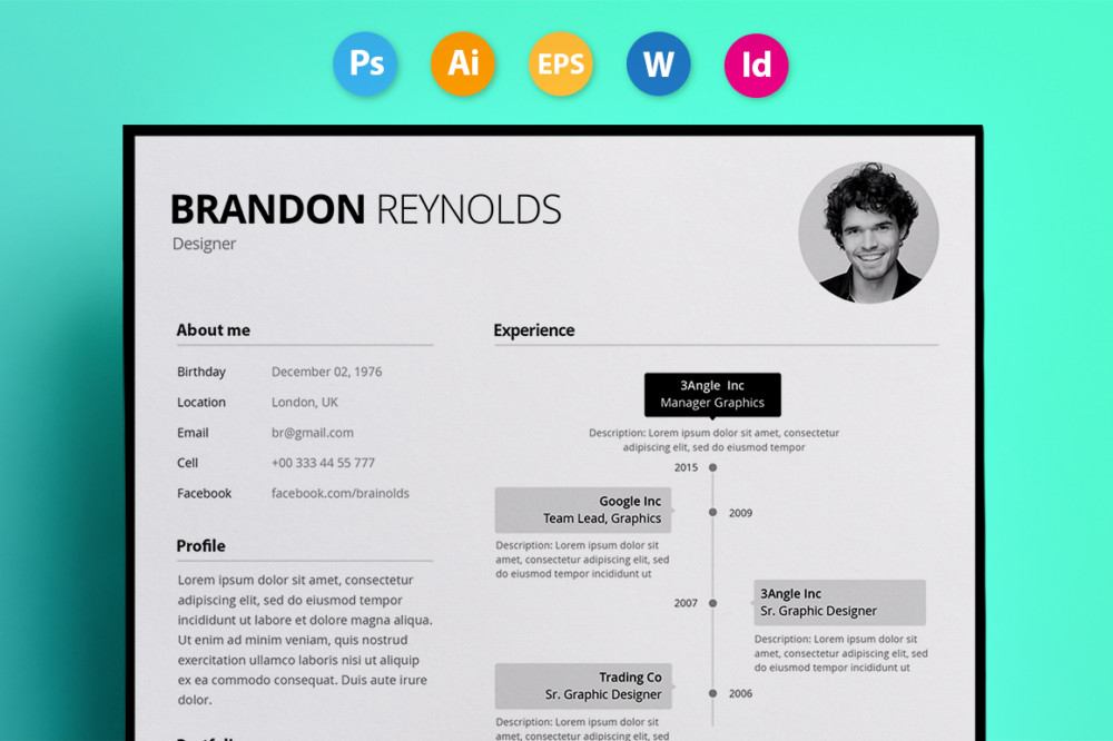 Fully Customizable Business Resume Template