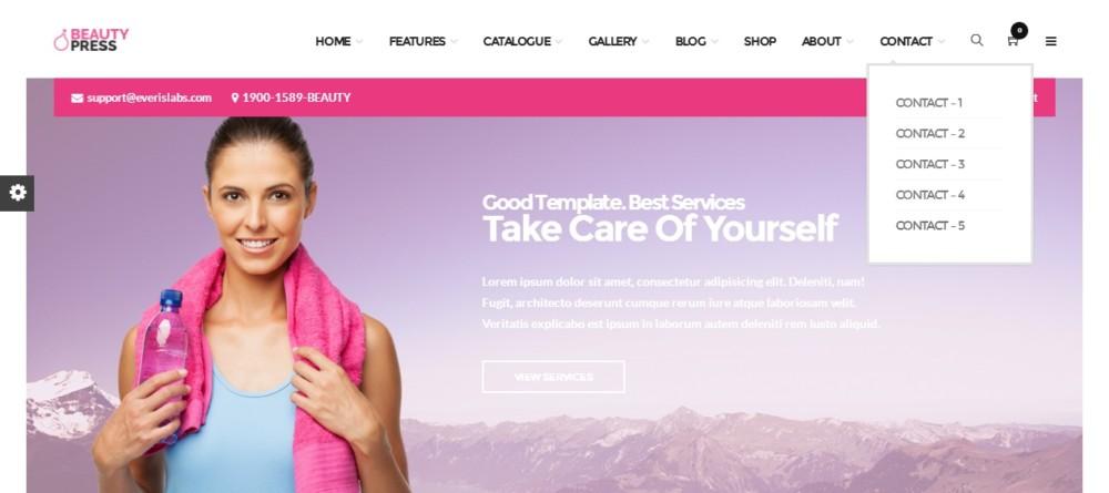 Fully Customizable WordPress Spa and Salon Theme