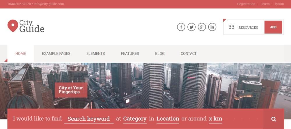 Fully Customizablw WordPress Directory Theme