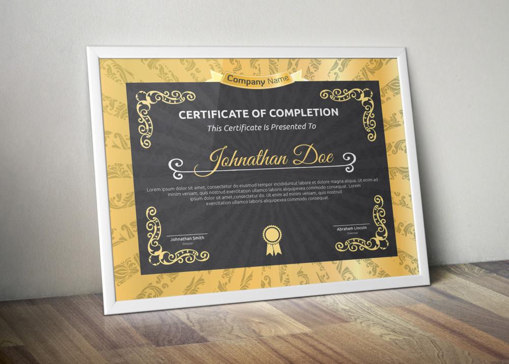 Fully Editable Award Certificate Template