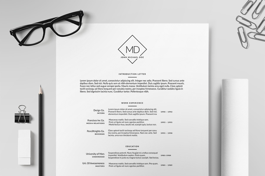 Fully Editable Business Resume Template