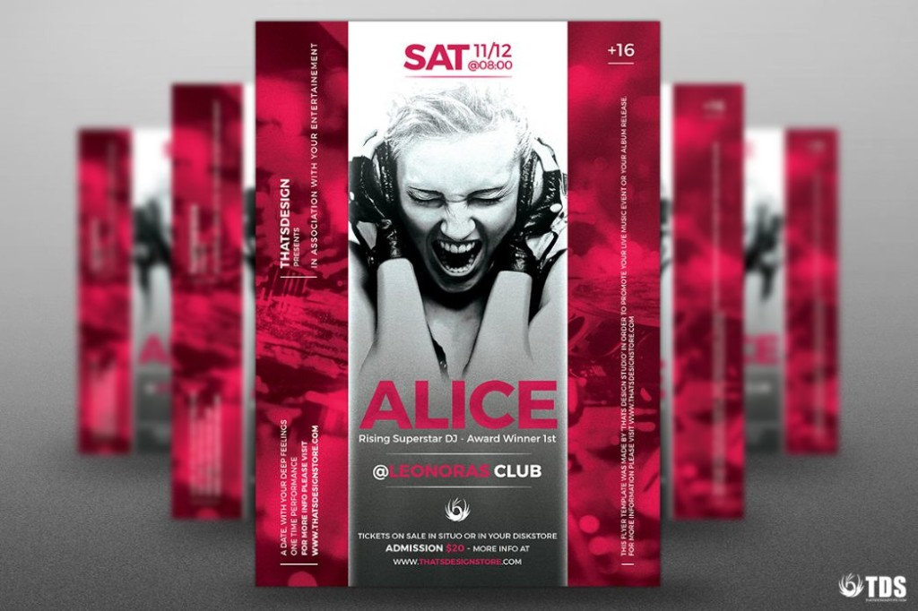 Fully Editable DJ Flyer Template PSD