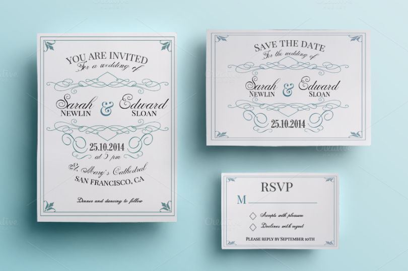 Fully Editable Wedding Invitation Card Template