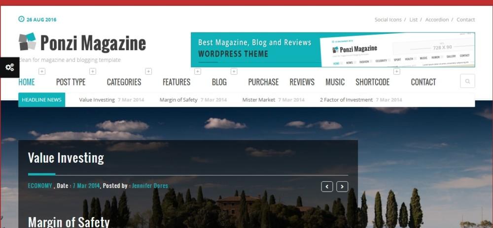 Fully Editable WordPress Review Theme