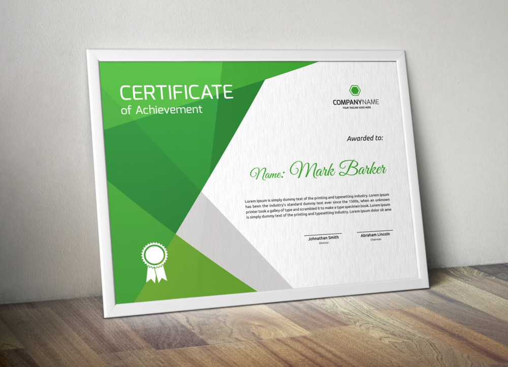 Fully Layered Award Certificate Template