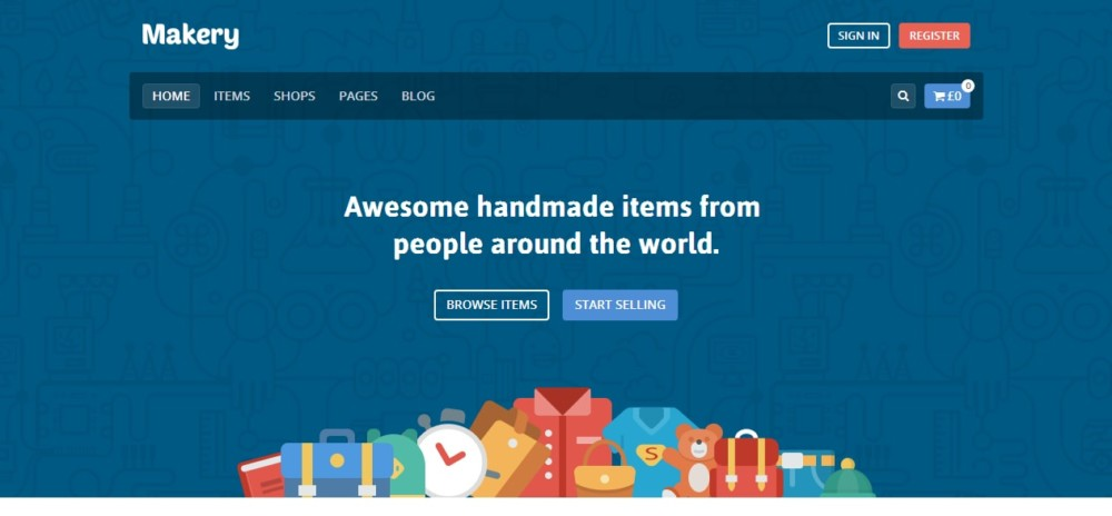 Fully Responsive WordPress Marketplace Theme