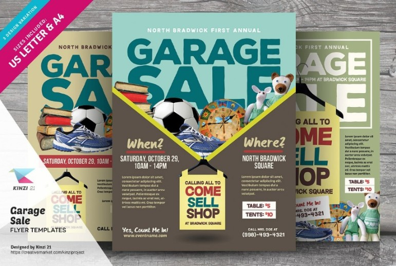 Garage Sale Flyer Template PSD