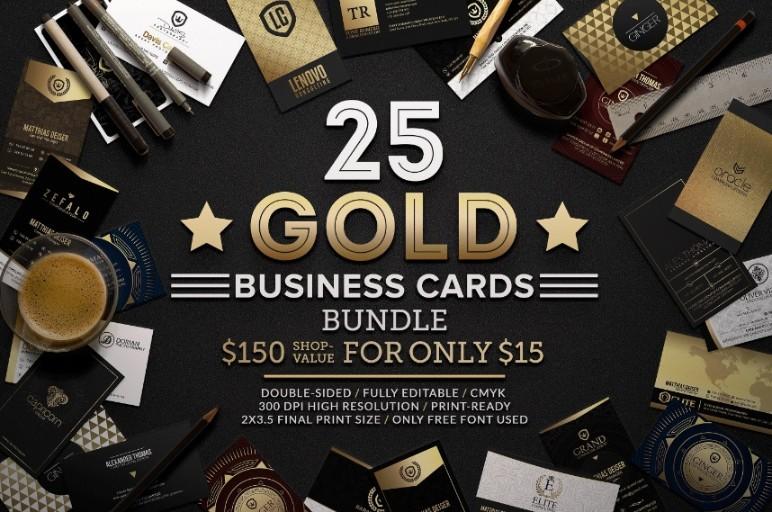 Golden Business Card Templates