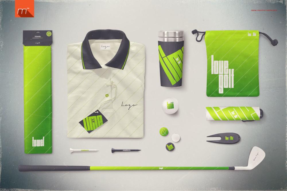 Golf Company Branding Mockup PSD