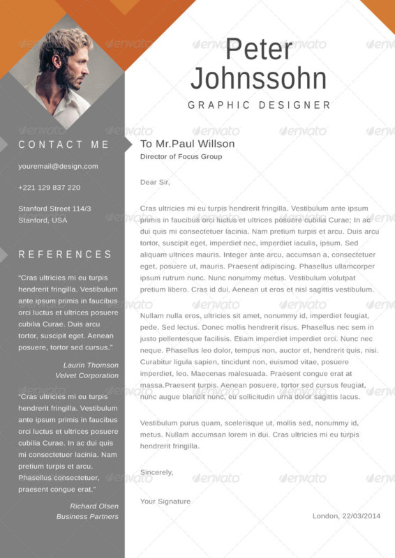 Gallery of letters graphic design 20 resume cover letter template word eps ai and psd altavistaventures Images