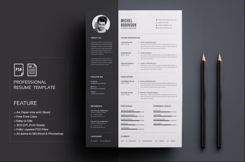 Graphic Designer Resume Template PSD
