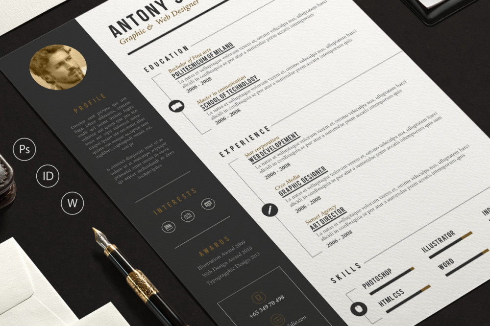 Graphic and Web Design resume Template