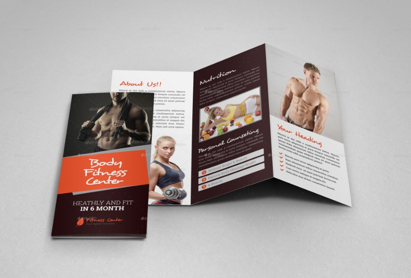 Gym Fitness Trifold Brochure