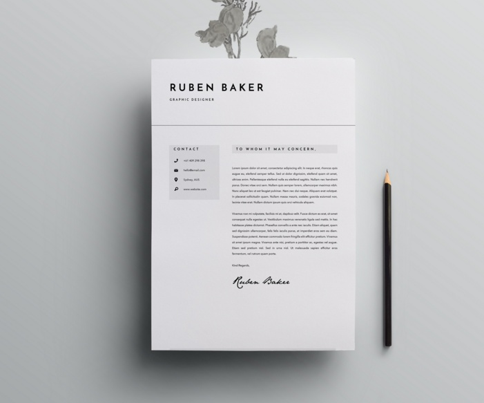 High Quality Cover Letter Template