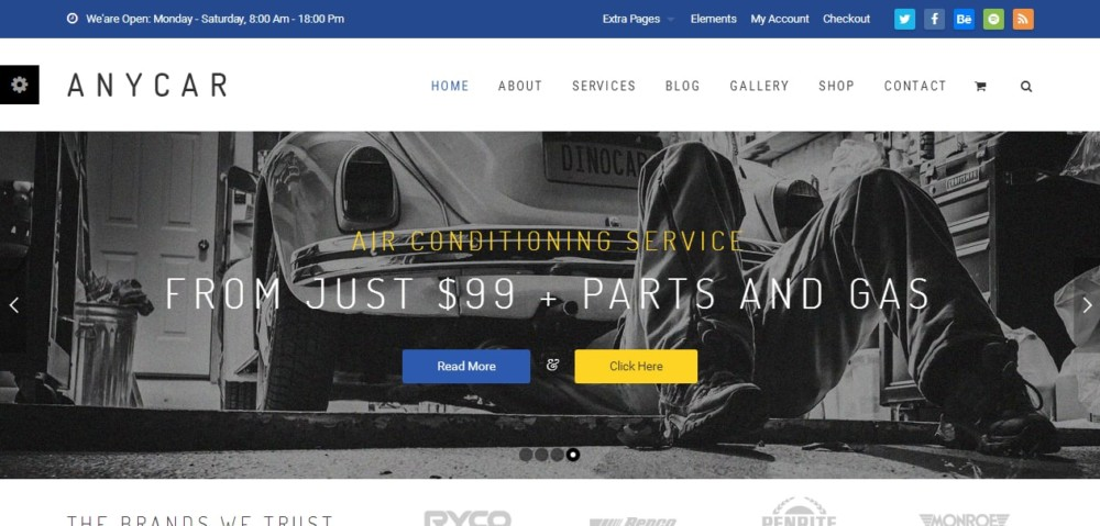 High Resolution Automotive WordPress Theme