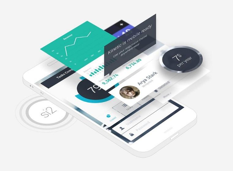 High Resolution Phone App Mockup