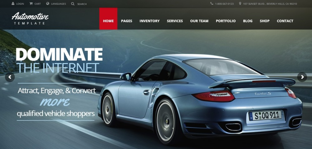 High Resolution WordPress Automotive Theme