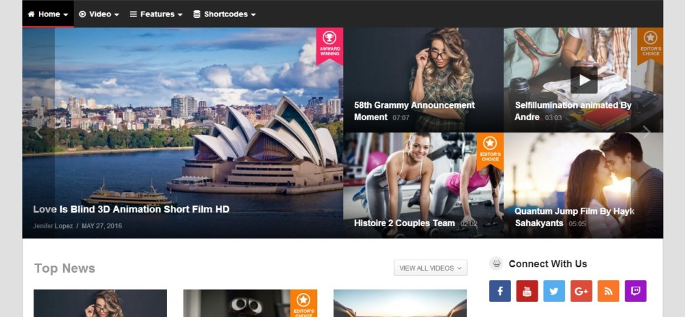 High Resolution WordPress Video Theme