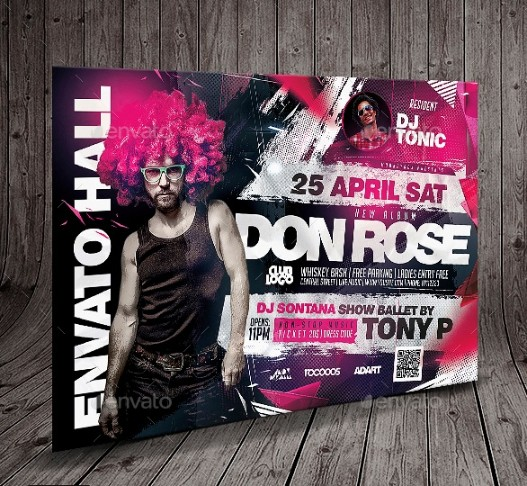 Horizontal Concert Flyer Template