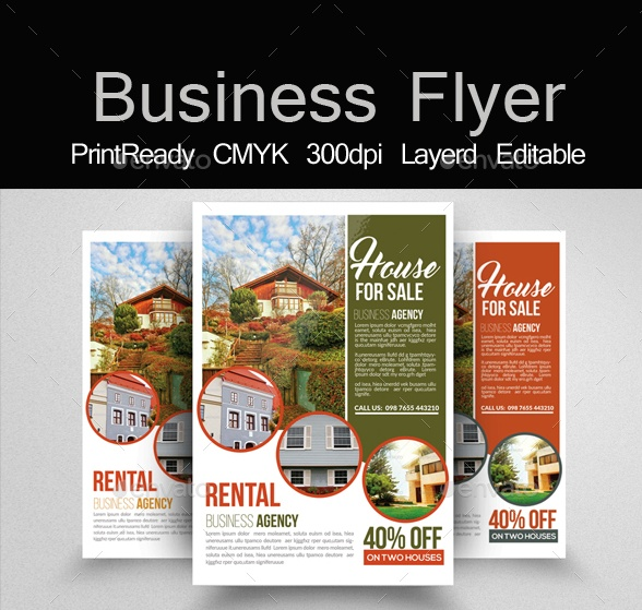 20 Sales Flyer Template PSD for House Retail and Discount – House Sale Flyer
