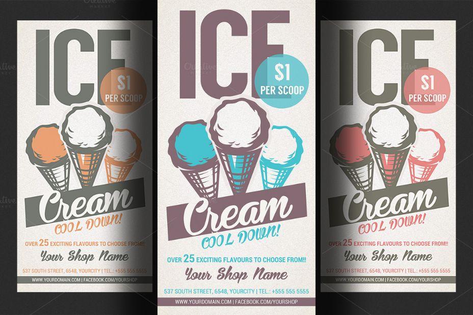 Ice Cream Shop Promotional Template