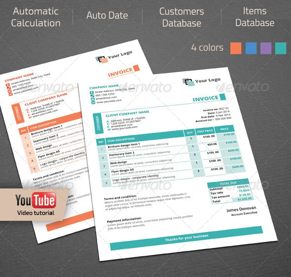 Commercial Invoice Template Word Psd Eps And Ai Format