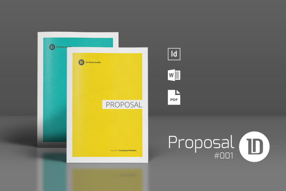 Job Proposal Template Word, Eps, Psd And Ai Format - Graphic Cloud