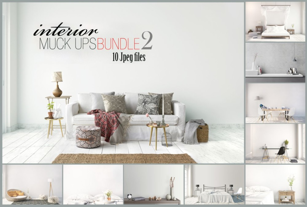 Interior Wall Art Mockup PSD Budle