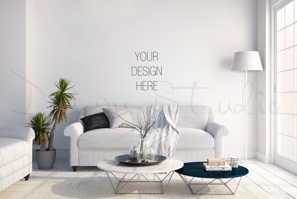 Interior Wall Art Mockup PSD