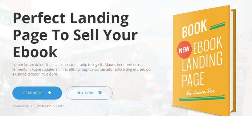 Landing Page e-Book WordPress Theme
