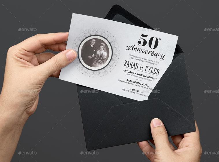 Layered Anniversary Invitation Template