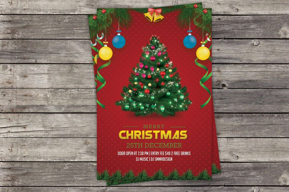 Layered Christmas Invitation Template