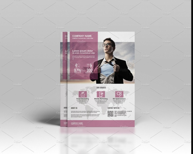 Layered Corporate Flyer Template