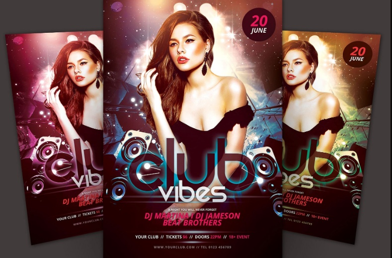 Layered DJ Flyer Template