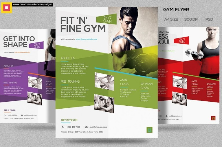 Layered Fitness Flyer Template