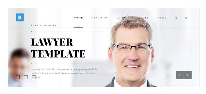 Layered Lawyer WordPress Theme